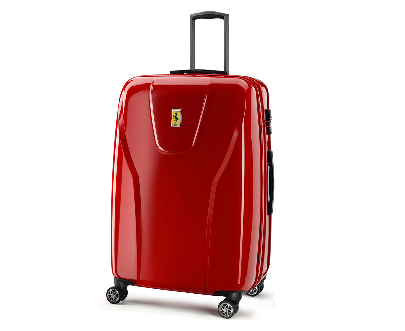 Ferrari Large 4W Hardcase Luggage - Red   Scoopon Shopping