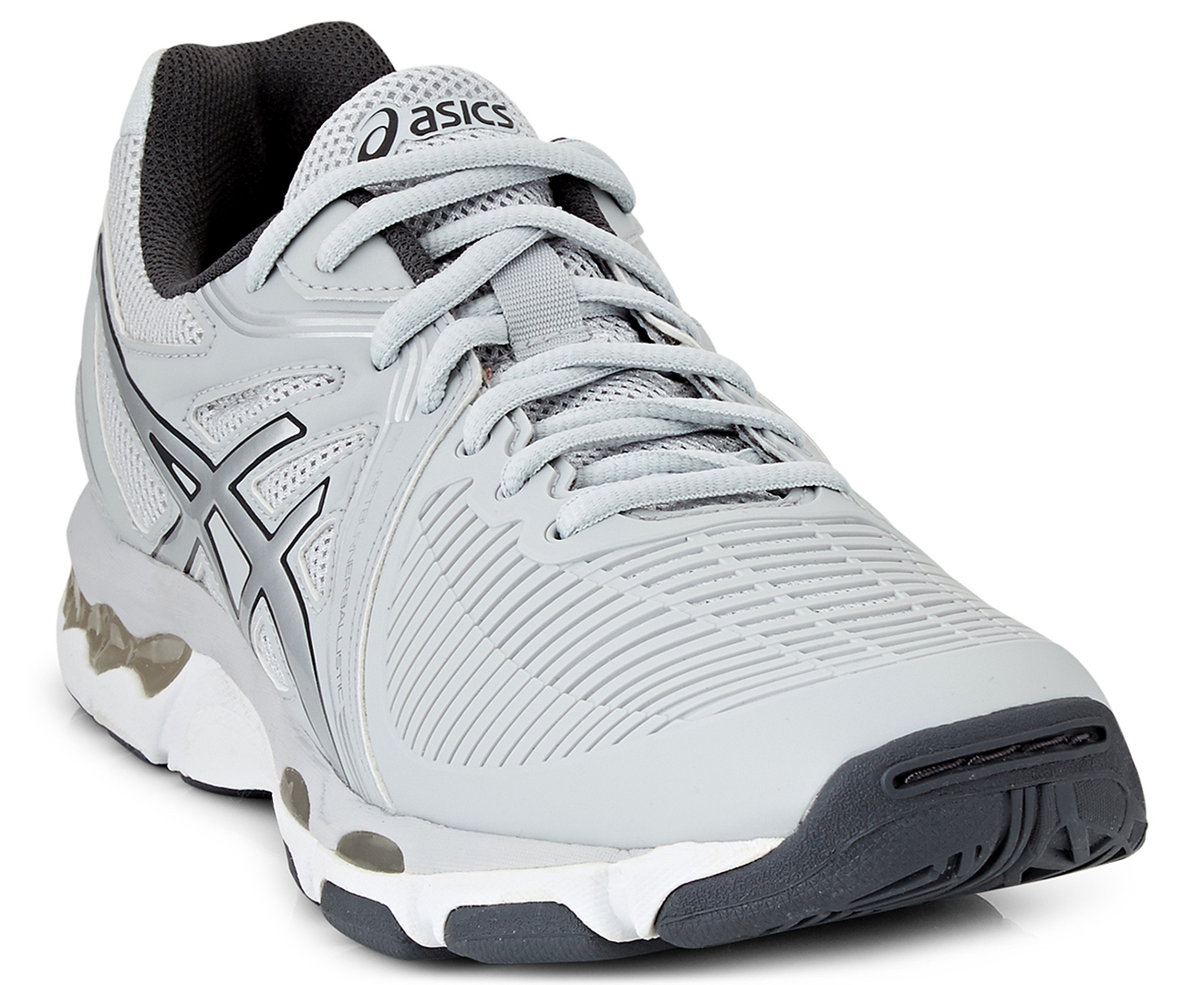 a great variety of models amazing price volume large Details about ASICS Women's GEL-Netburner Ballistic Shoe - Glacier  Grey/Silver/Dark Grey