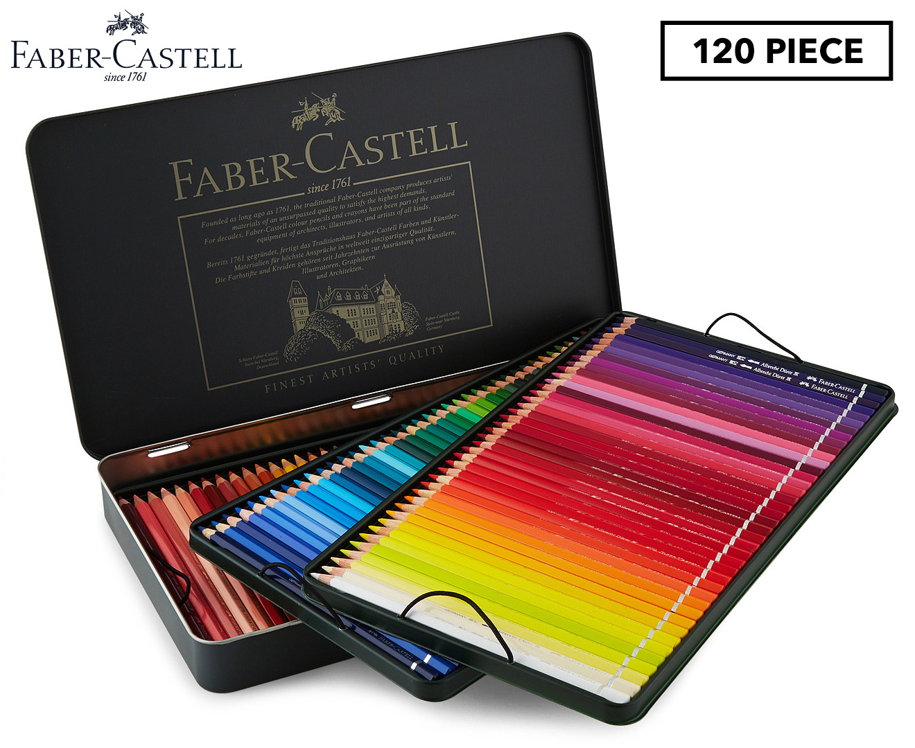 Faber Castell Albrecht D 252 Rer 120 Watercolour Pencils Set