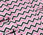 Outlook Cotton Pram Liner - Charcoal/Pink Chevron 3