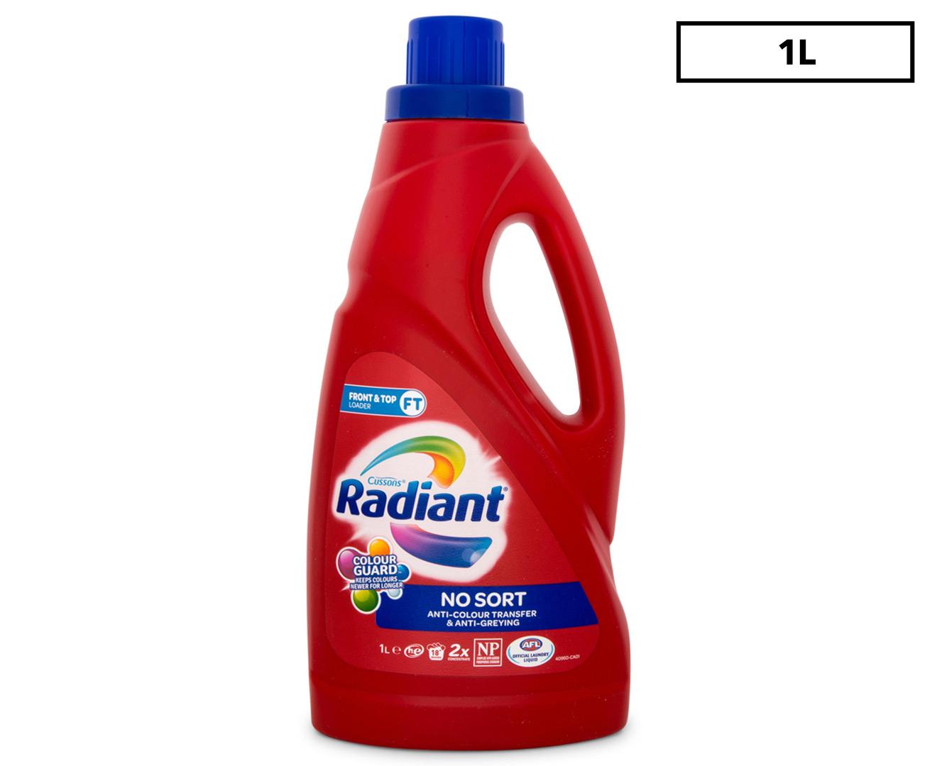 Radiant Front & Top Loader No Sort Laundry Liquid 1L ...