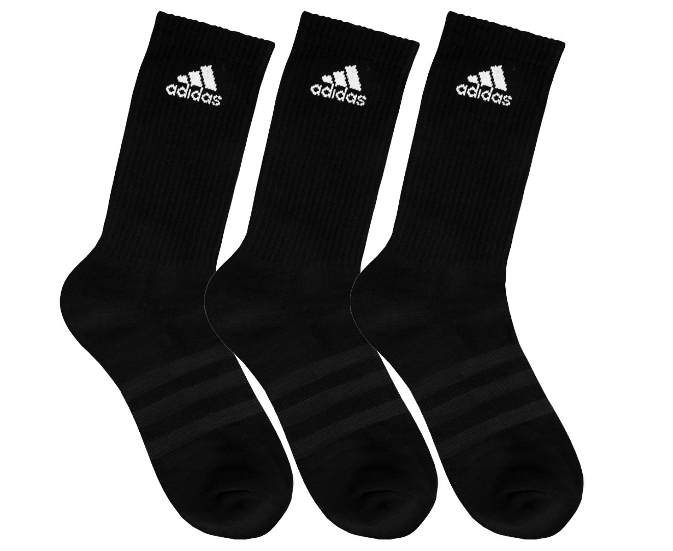 10620cd026c Picture 1 of 3; Picture 2 of 3; Picture 3 of 3. Adidas 3-Stripes  Performance Crew 3pk ...