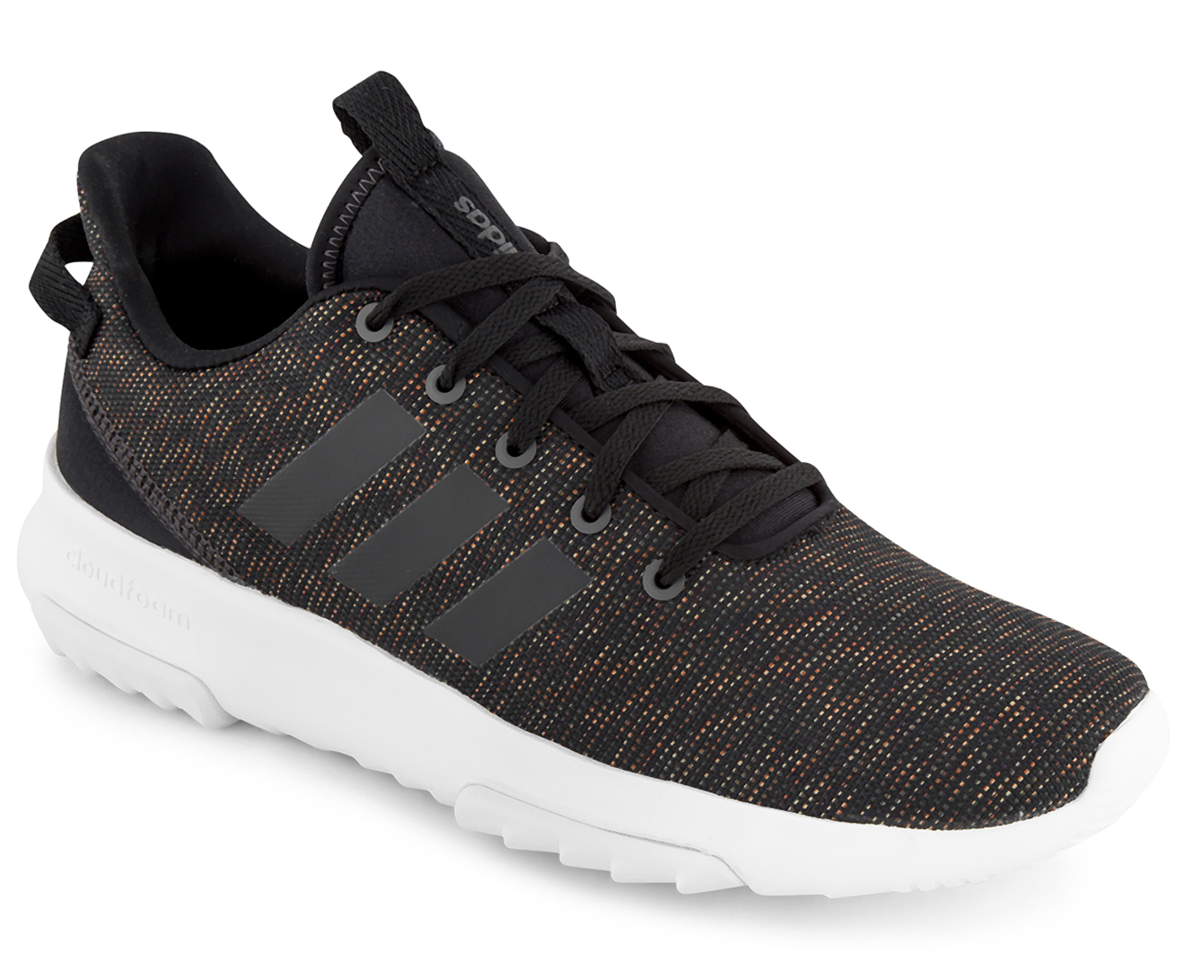 Adidas NEO Men s Cloudfoam Racer TR Shoe - Casual Black Utility Black  d2031b9c7