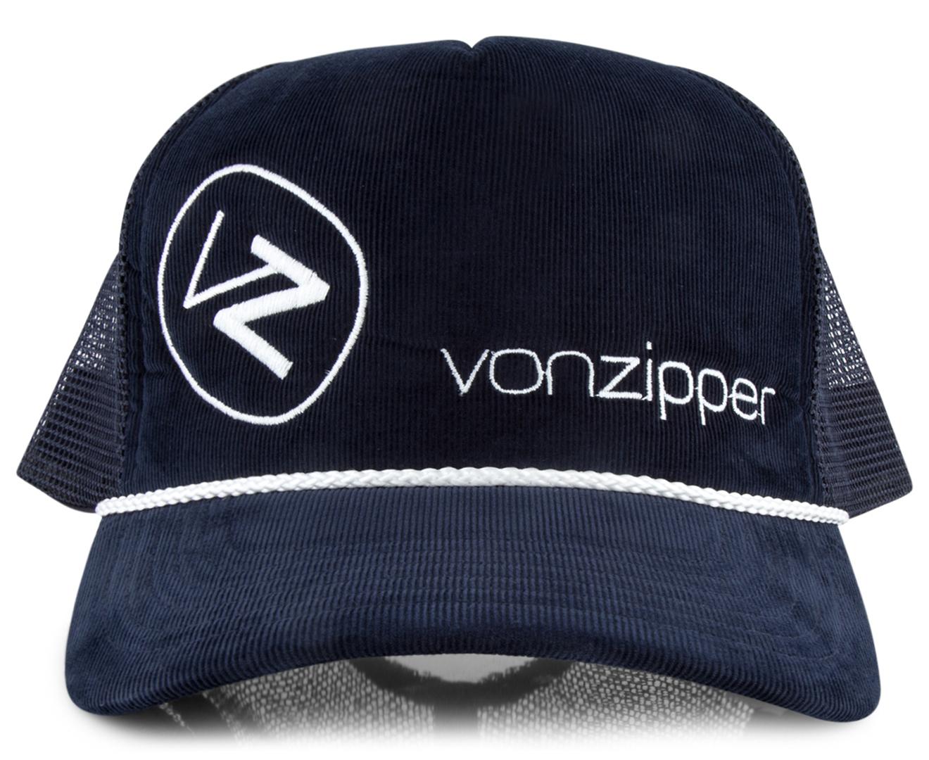 VonZipper Moby Corduroy Trucker Cap - Navy  8af98db5c77