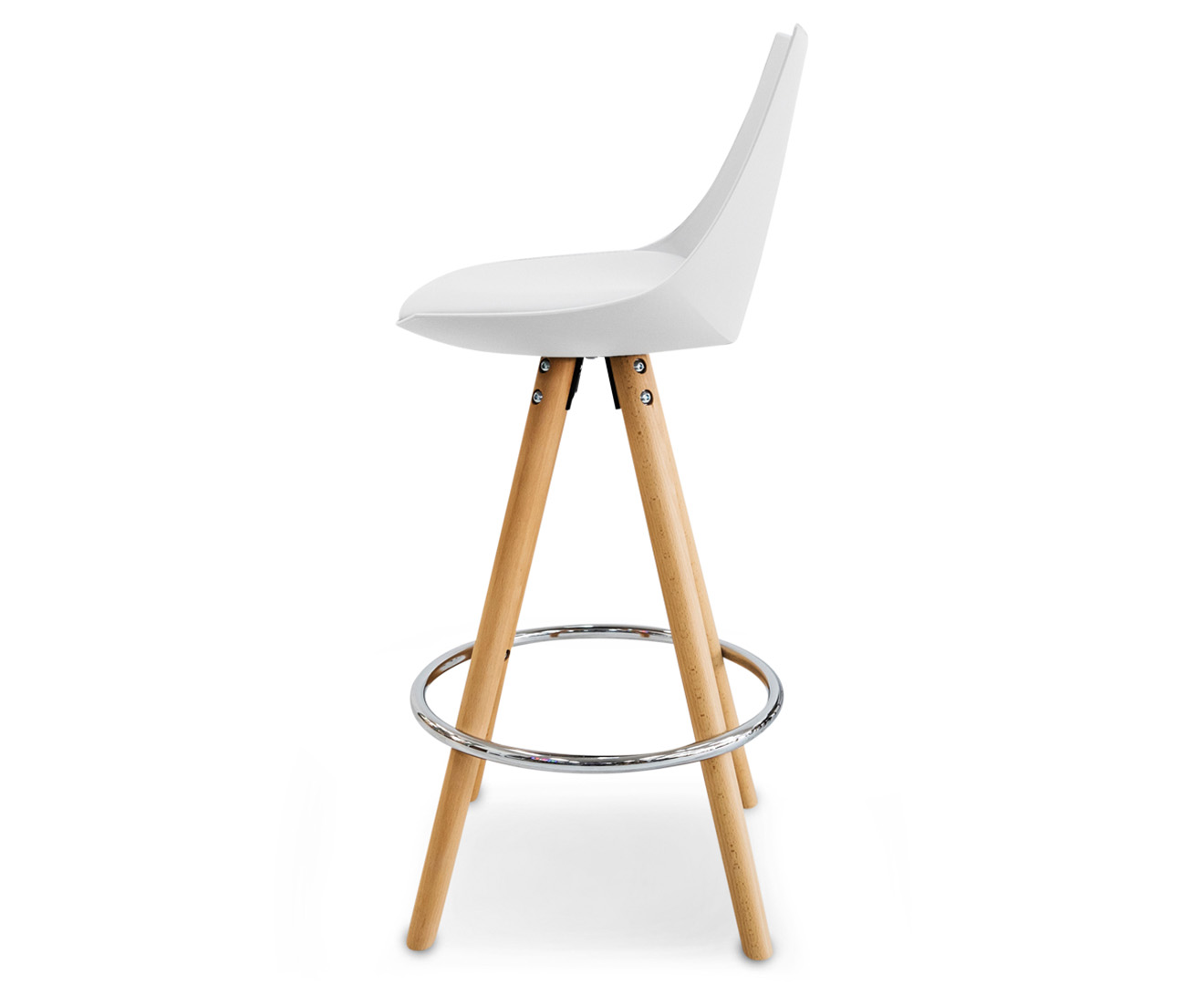 Set Of 2 Vixen 90cm Oak Bar Stool White Natural