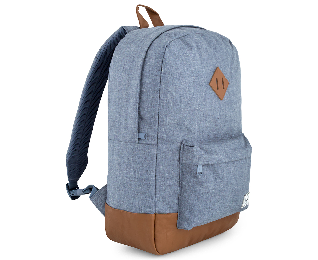 Herschel Supply Co. 21.5L Heritage Backpack - Dark Chambray Crosshatch Tan 12673360c48fe