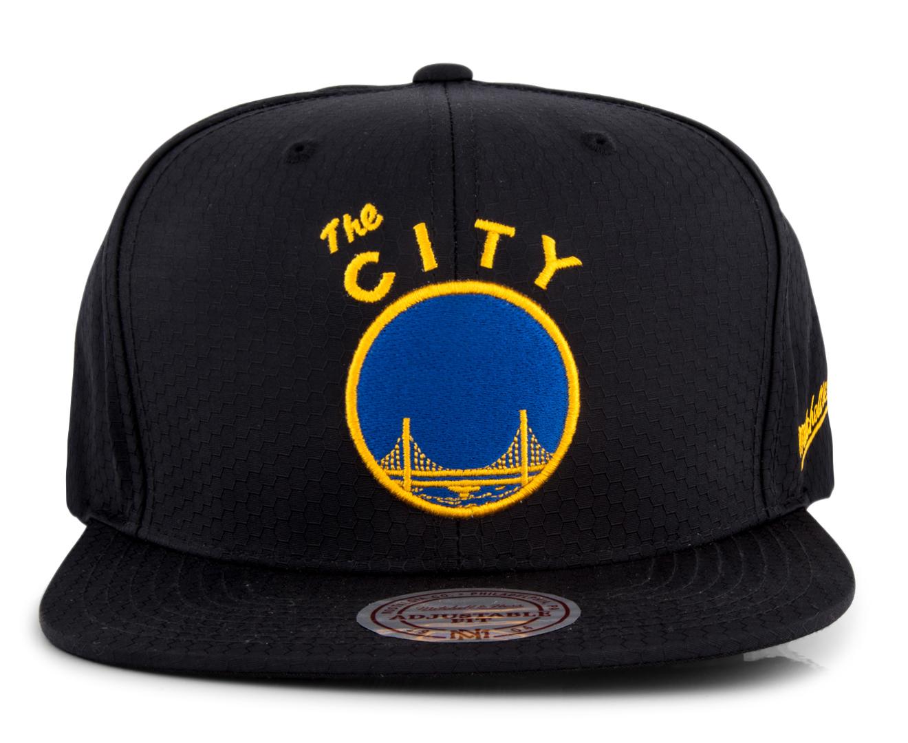 buy online 3bd89 1242c Mitchell   Ness Ripstop Honeycomb Snapback Hat - Golden State Warriors    Catch.com.au