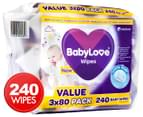 BabyLove Ultra Soft Wipes 3 x 80 Value Pack 1