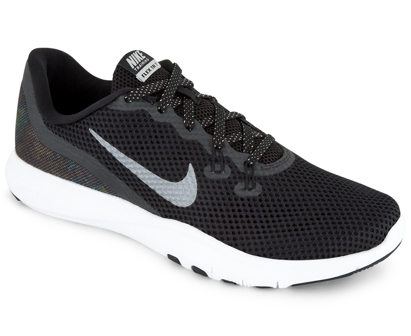 8262b5f4e339a Nike Women s Flex Trainer 7 MTLC Shoe - Black Metallic Dark Grey ...