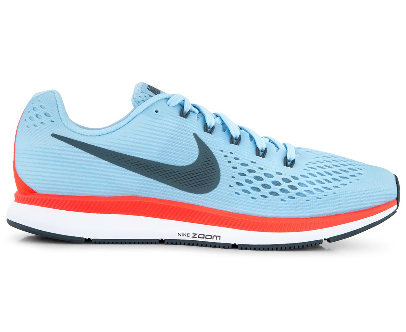 Nike Men's Air Zoom Pegasus 34 Shoe - Ice Blue/Blue Fox