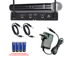 Sonken 600D-6 Pro UHF Wireless Microphones (2) and Receiver Unit 2