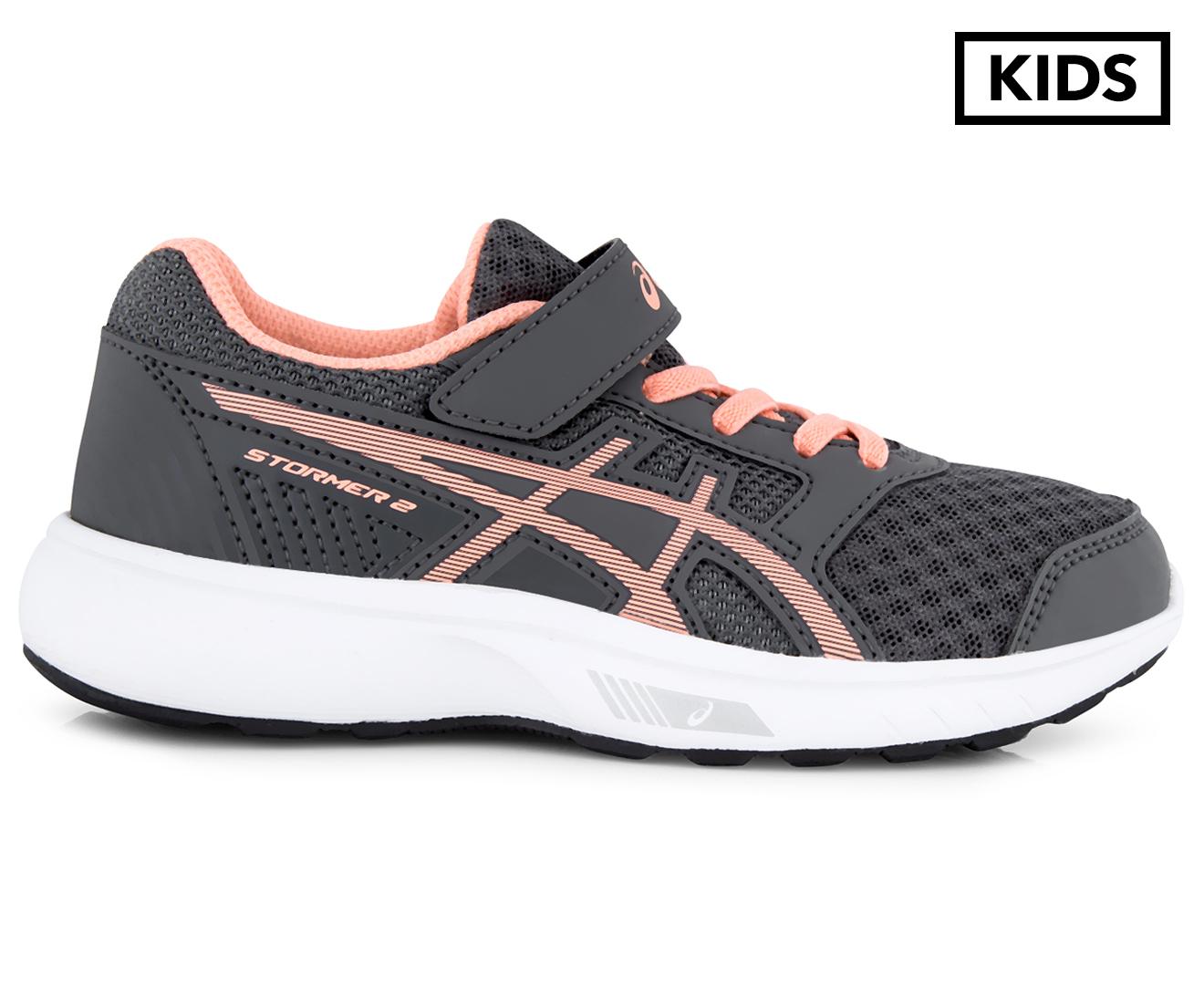 ASICS Pre-School Girls  Stormer 2 Shoe - Carbon Begonia Pink White ... 776cbd8d7e4