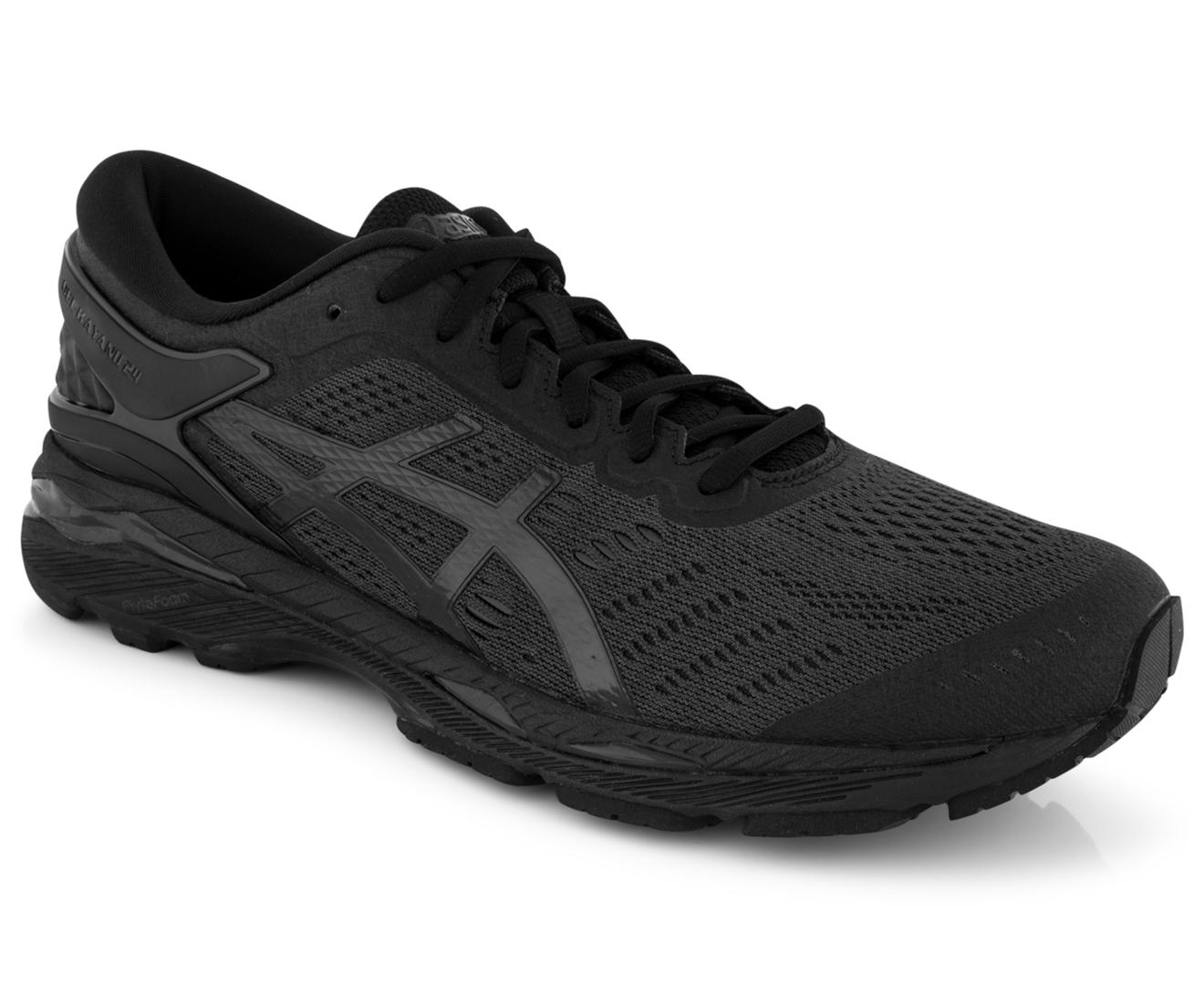 Asics Men S Gel Kayano 24 Shoe Black Black Carbon