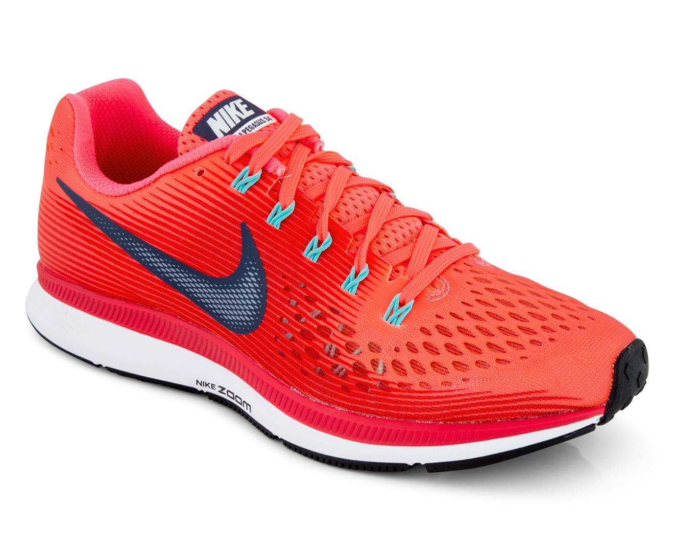 best loved 76c18 53596 Nike Women s Air Zoom Pegasus 34 Shoe - Hot Punch Thunder Blue    Catch.com.au