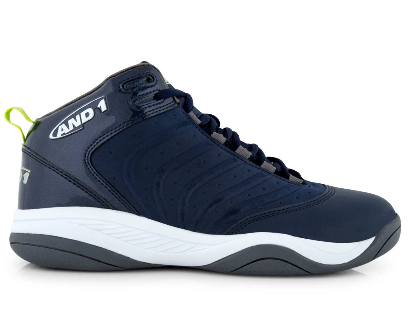 AND1 Men's The Drive Mid Shoe Navy/Yellow/Wihte
