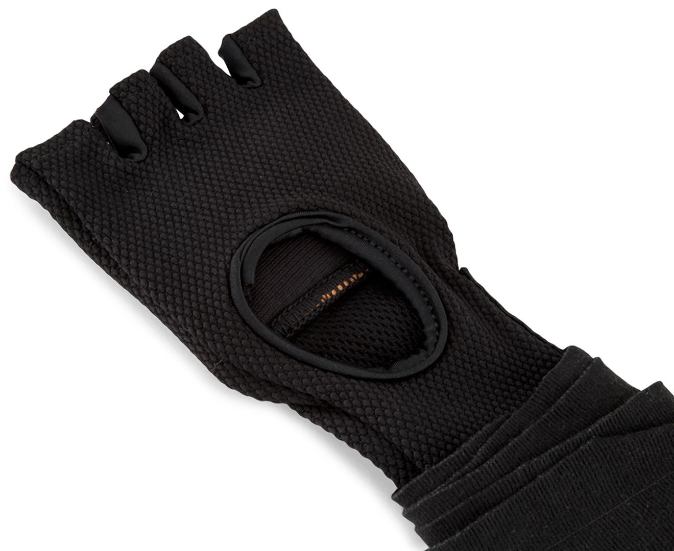 BLACK STINGELASTICISED HAND WRAPS