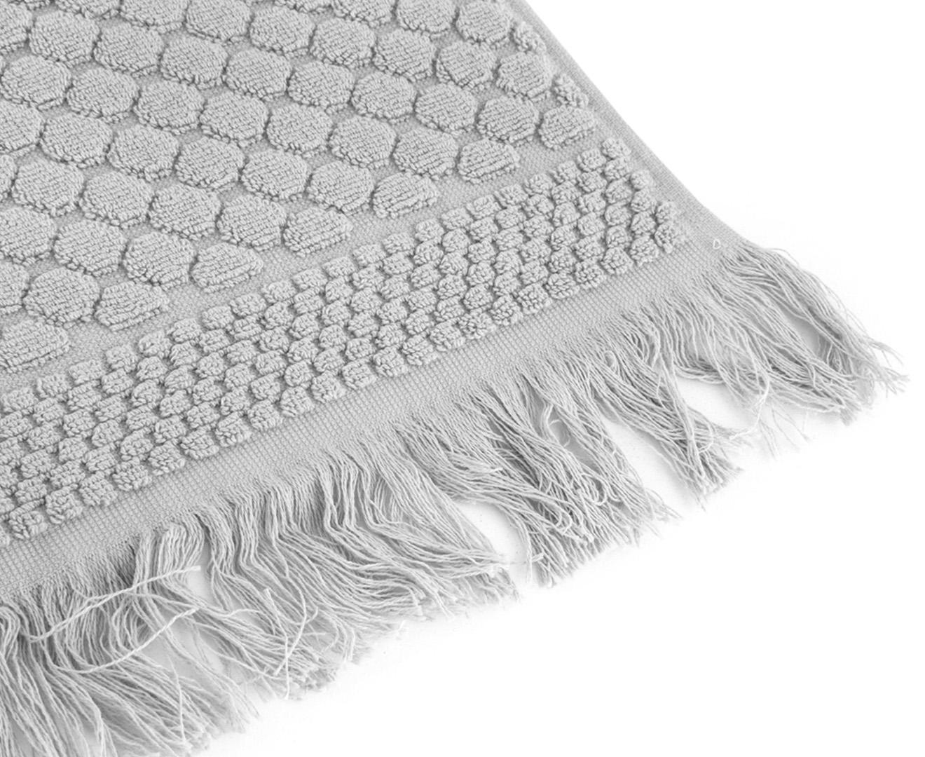 Luxury Living Soho 800gsm Bath Towel 4 Pack Silver