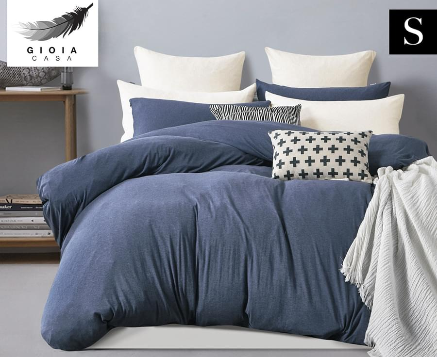 Jersey Cotton Single Bed Quilt Cover Set