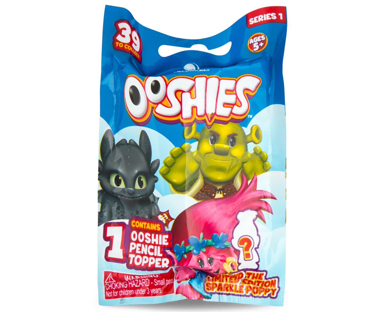 OOSHIES DREAMWORKS PENCIL TOPPER TROLLS SHREK /& MORE 2 RANDOM BLIND BAGS