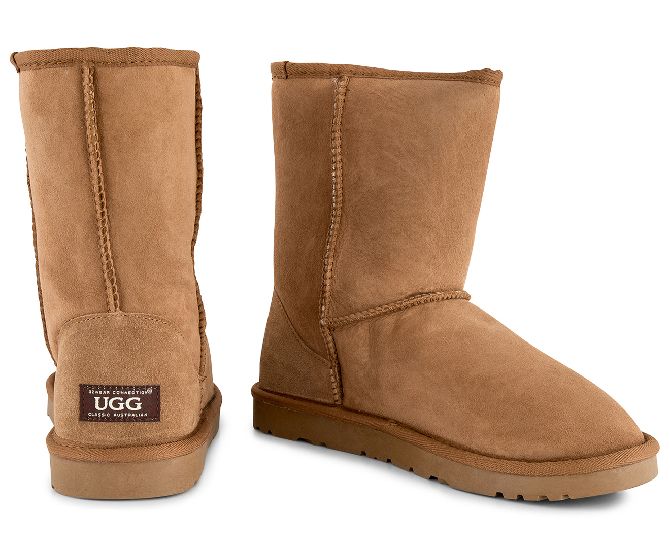ef1a57c1483 Details about OZWEAR Connection Classic 3/4 Ugg Boot - Chestnut