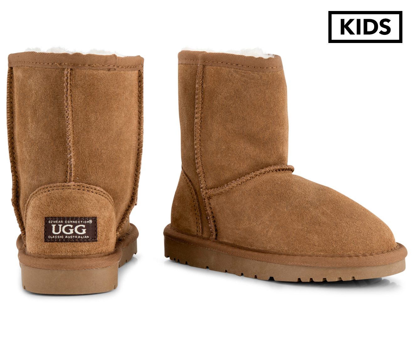 5d97c01b7f6 Details about OZWEAR Connection Kids' Ugg Boots - Chestnut