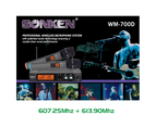 Sonken 700D-6 Pro UHF Wireless Microphones (2) and Receiver Unit + Case 4
