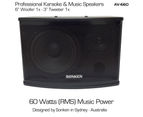 "Sonken AV-660 (6"") Passive Music & Karaoke Speakers - 60 Watts x2 (RMS) 1"