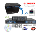 Sonken DJ Buster Portable Karaoke System (CD+G / DVD / MP3+G) + 2 Wireless Mics + Bluetooth 3