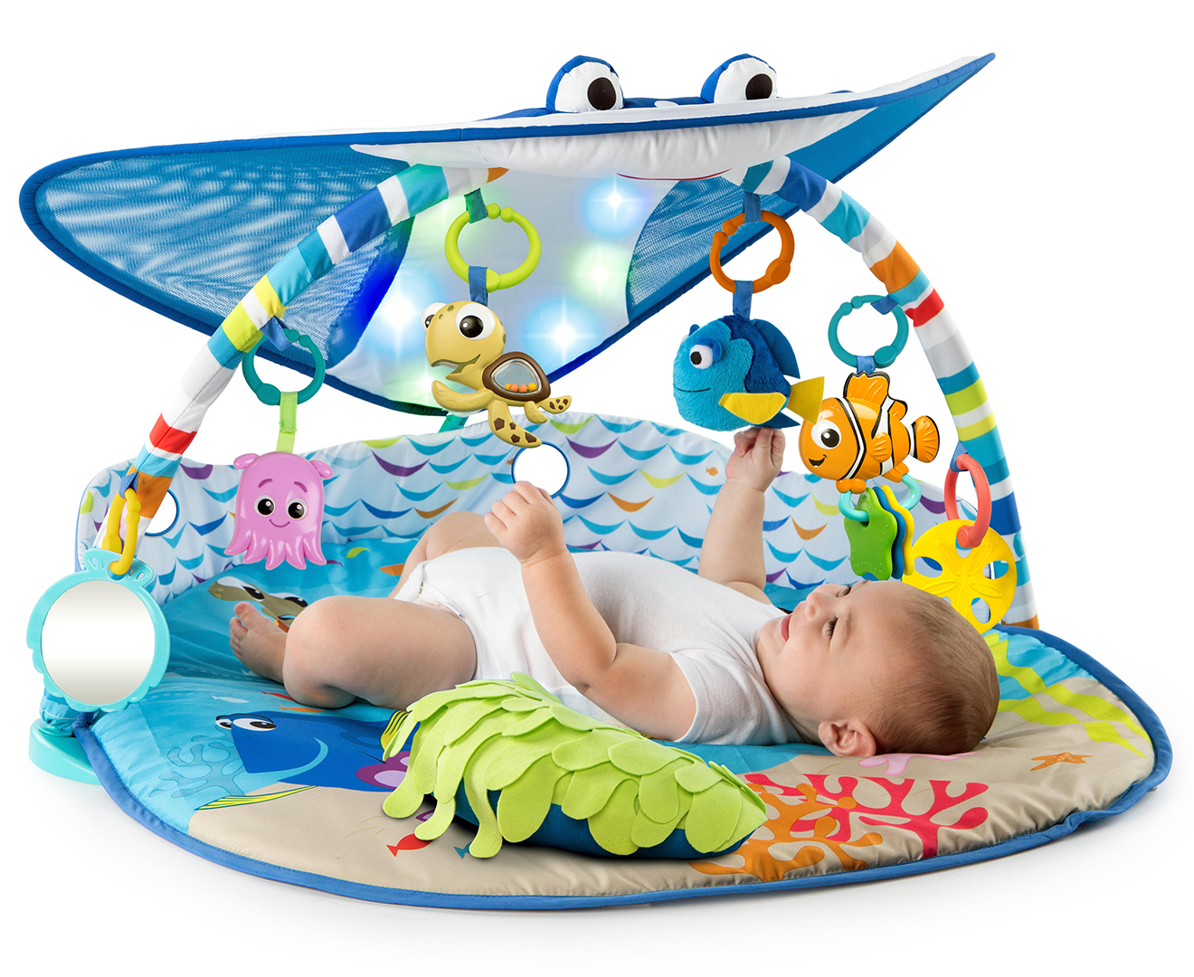 Bright Starts Mr Ray Ocean Lights Baby Playgym Finding