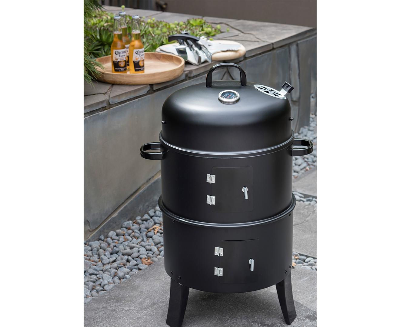 Charmate 3 In 1 Charcoal BBQ Smoker