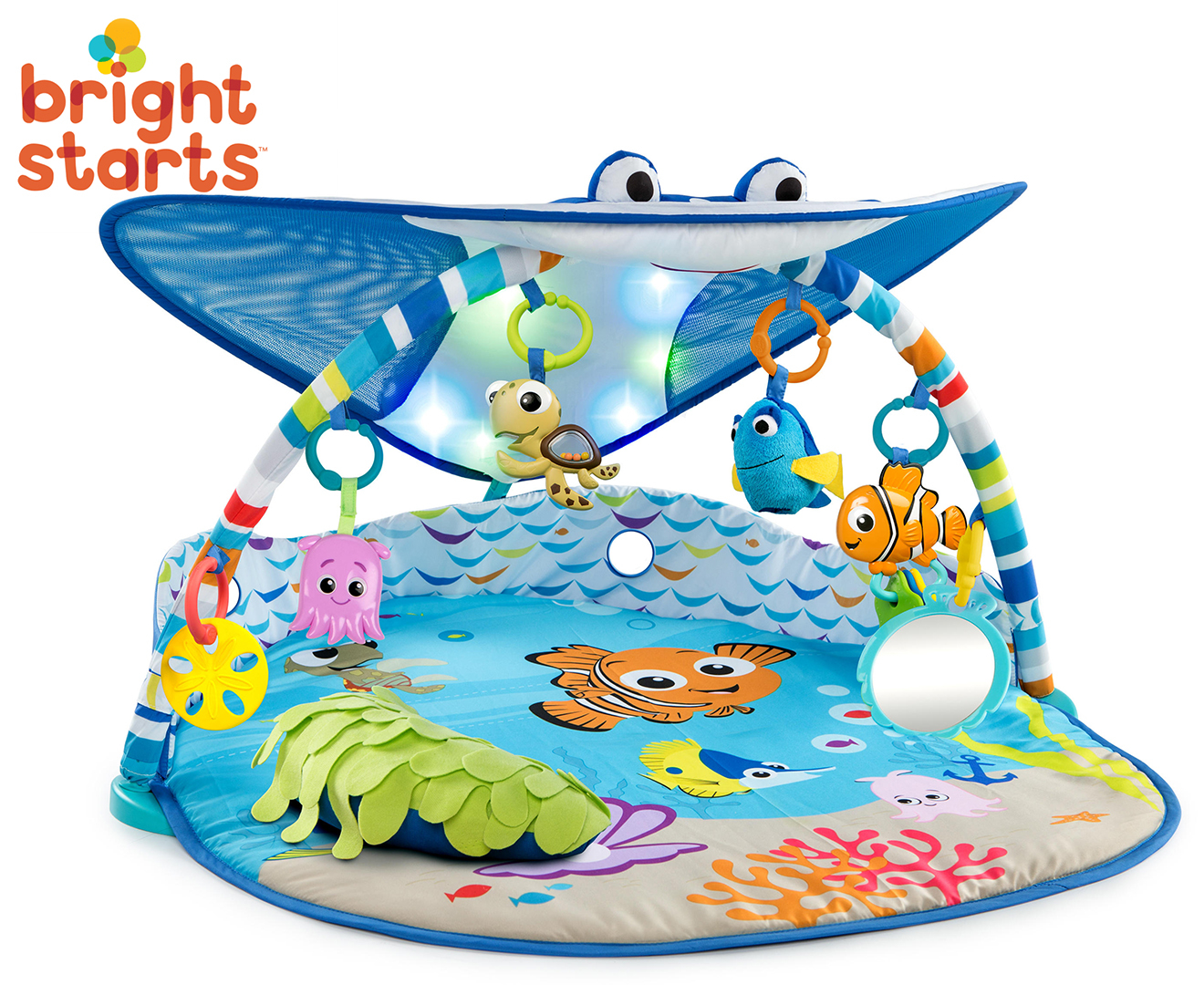 Bright Starts Mr Ray Ocean Lights Baby Infant Playgym