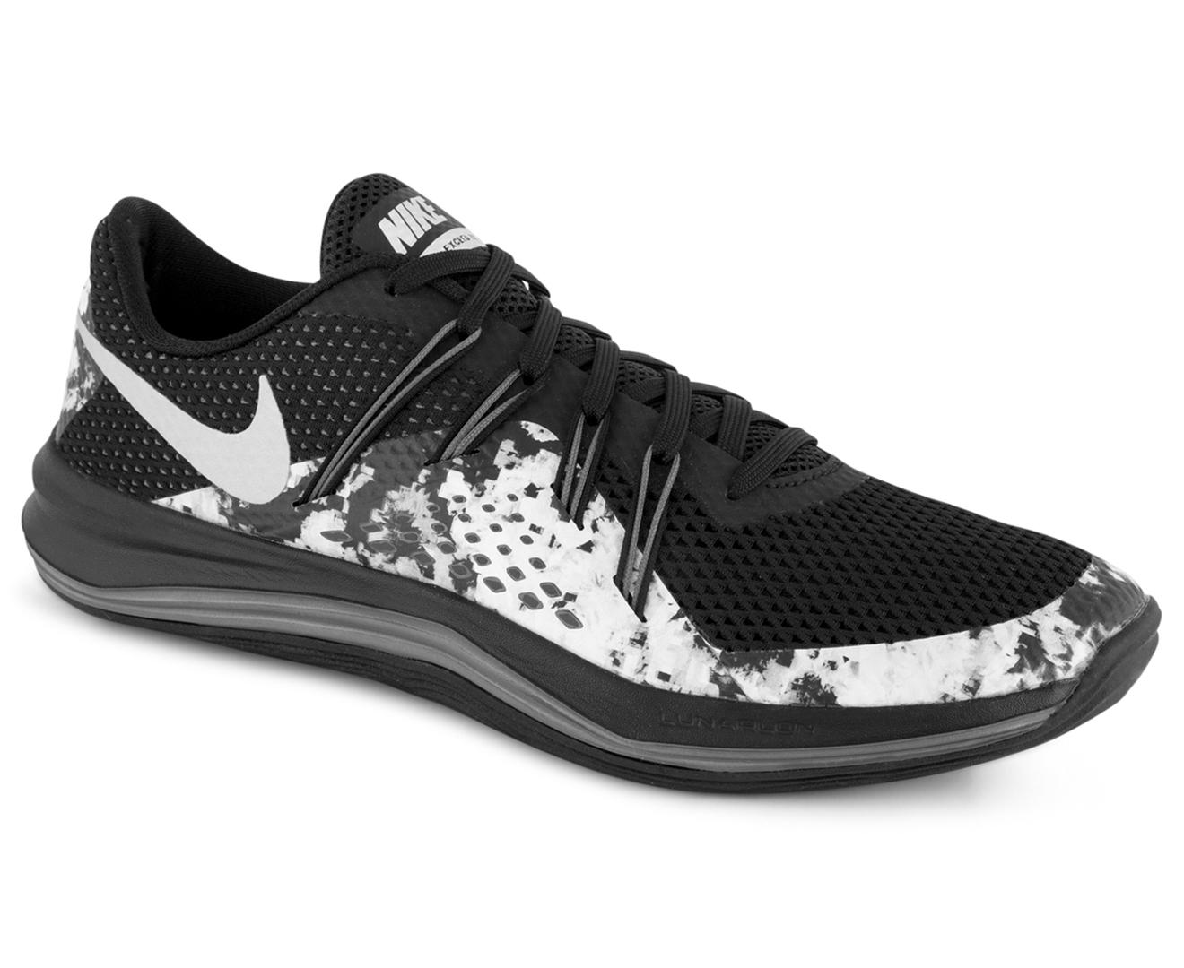 08845a67747c Nike Women s Lunar Exceed TR Print Shoe - Black Metallic Silver ...