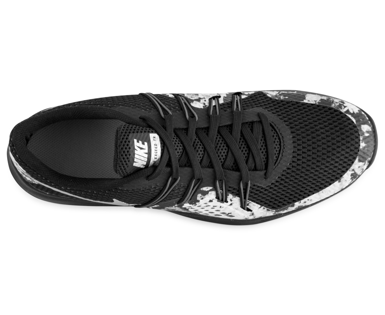 67d68a5fb1 Nike Women s Lunar Exceed TR Print Shoe - Black Metallic Silver ...