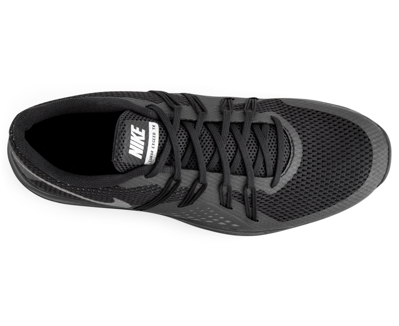250ae0e0ff70 Nike Women s Lunar Exceed TR Metallic Shoe - Black Metallic Silver ...