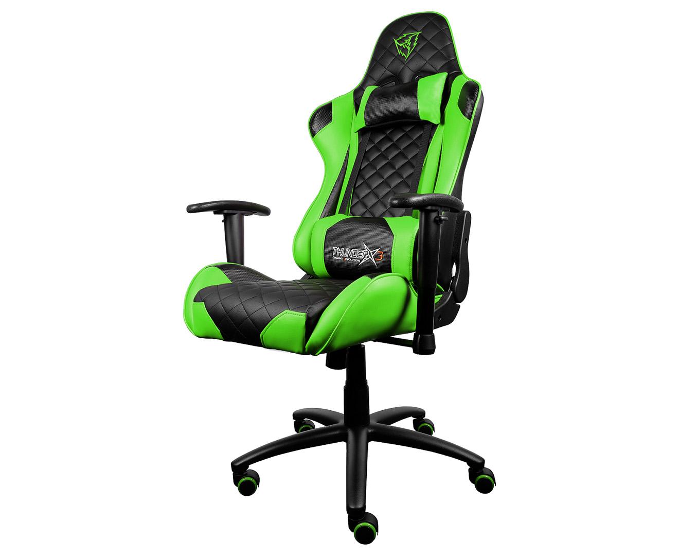 ThunderX3 TGC12 Gaming Chair - Black/Green