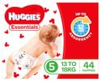 Huggies Essentials Nappies Walker Size 5 13-18kg+ Nappies 44pk 2
