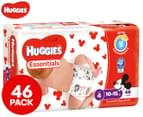 Huggies Essentials Nappies Toddler Size 4 10-15kg Nappies 46pk 1