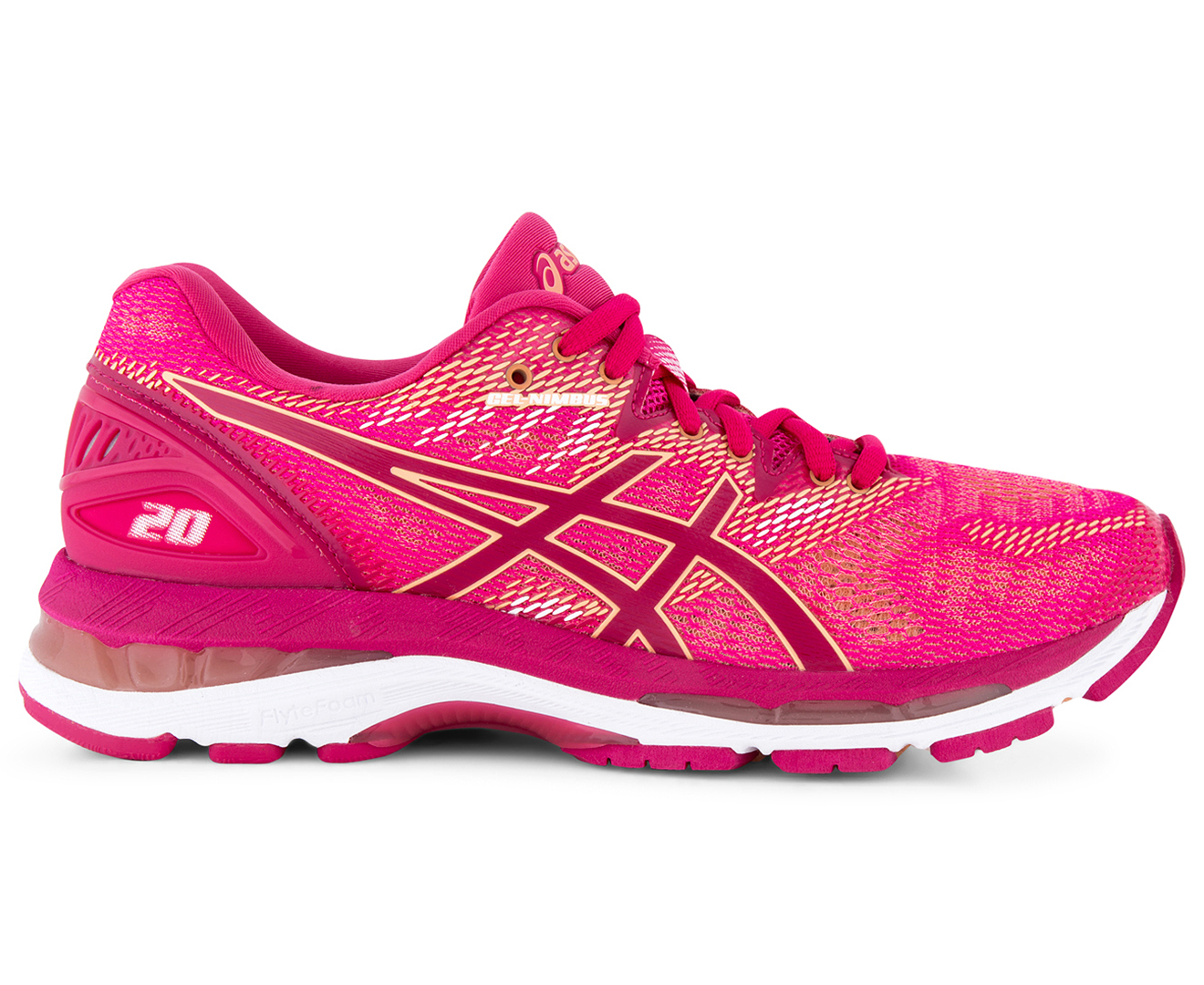 a632d6ebe937 ASICS Women s GEL-Nimbus 20 Shoe - Bright Rose Bright Rose Apricot ...