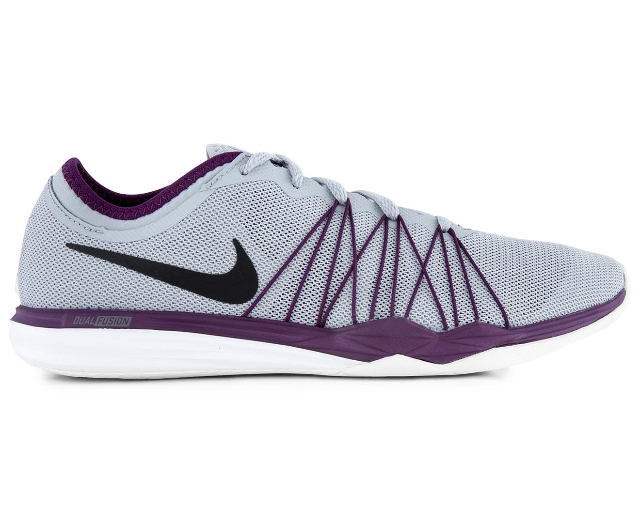 Nike Women s Dual Fusion TR HIT Shoe - Wolf Grey Black-Night Purple ... 0b7139f61a