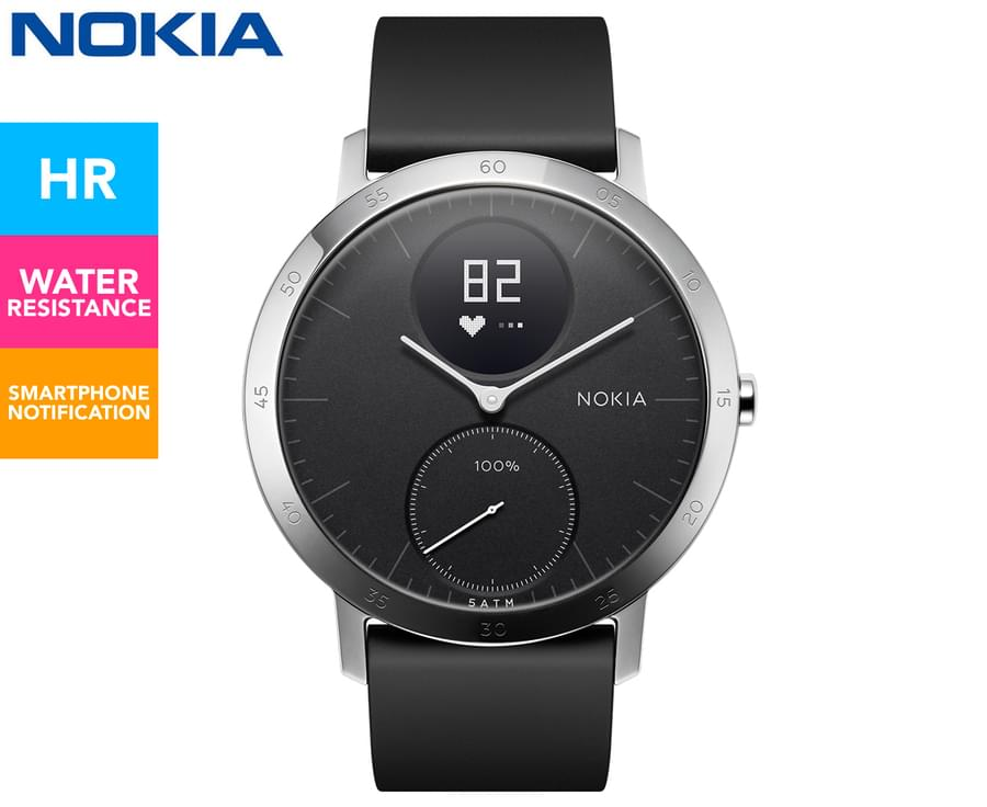 Nokia 40mm Steel HR Activity Silicone Strap Watch