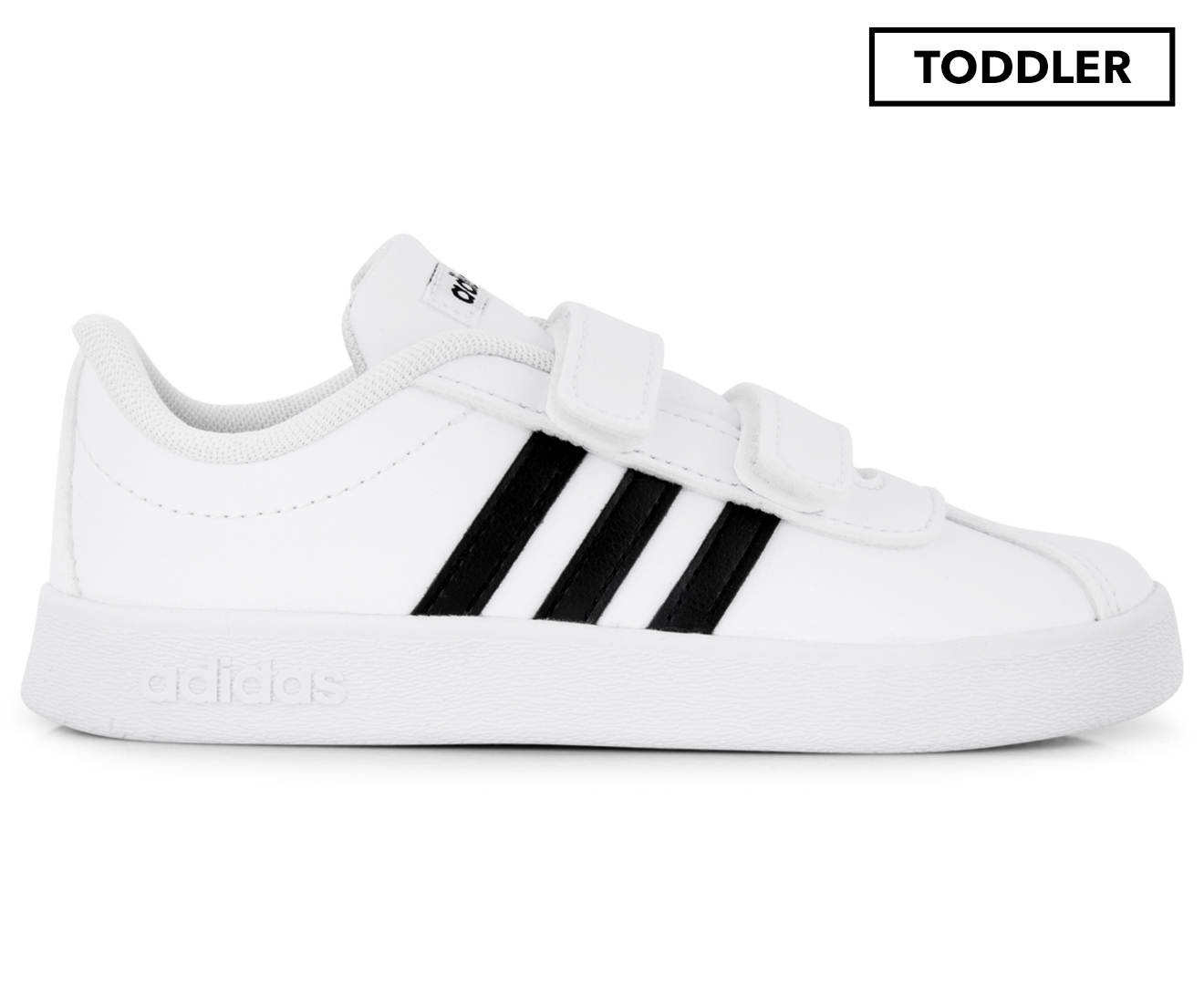 4d3120ea Details about Adidas Toddler VL Court 2.0 CMF I Shoe - Flat White/Core Black