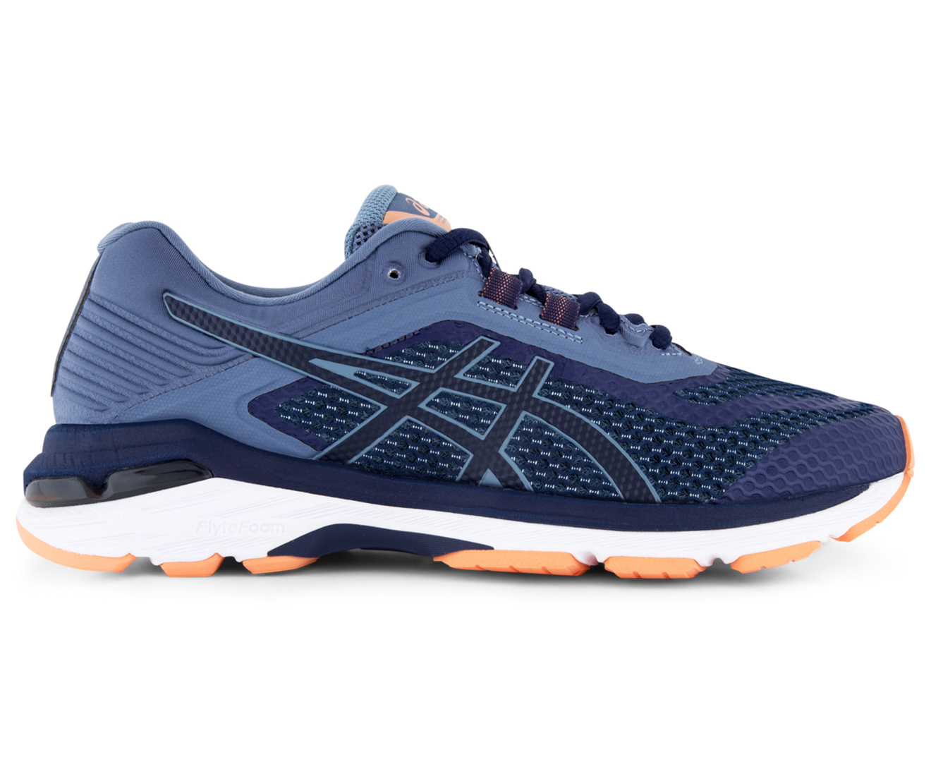 Asics Women S Gt 2000 6 Wide Fit D Shoe Indigo Blue