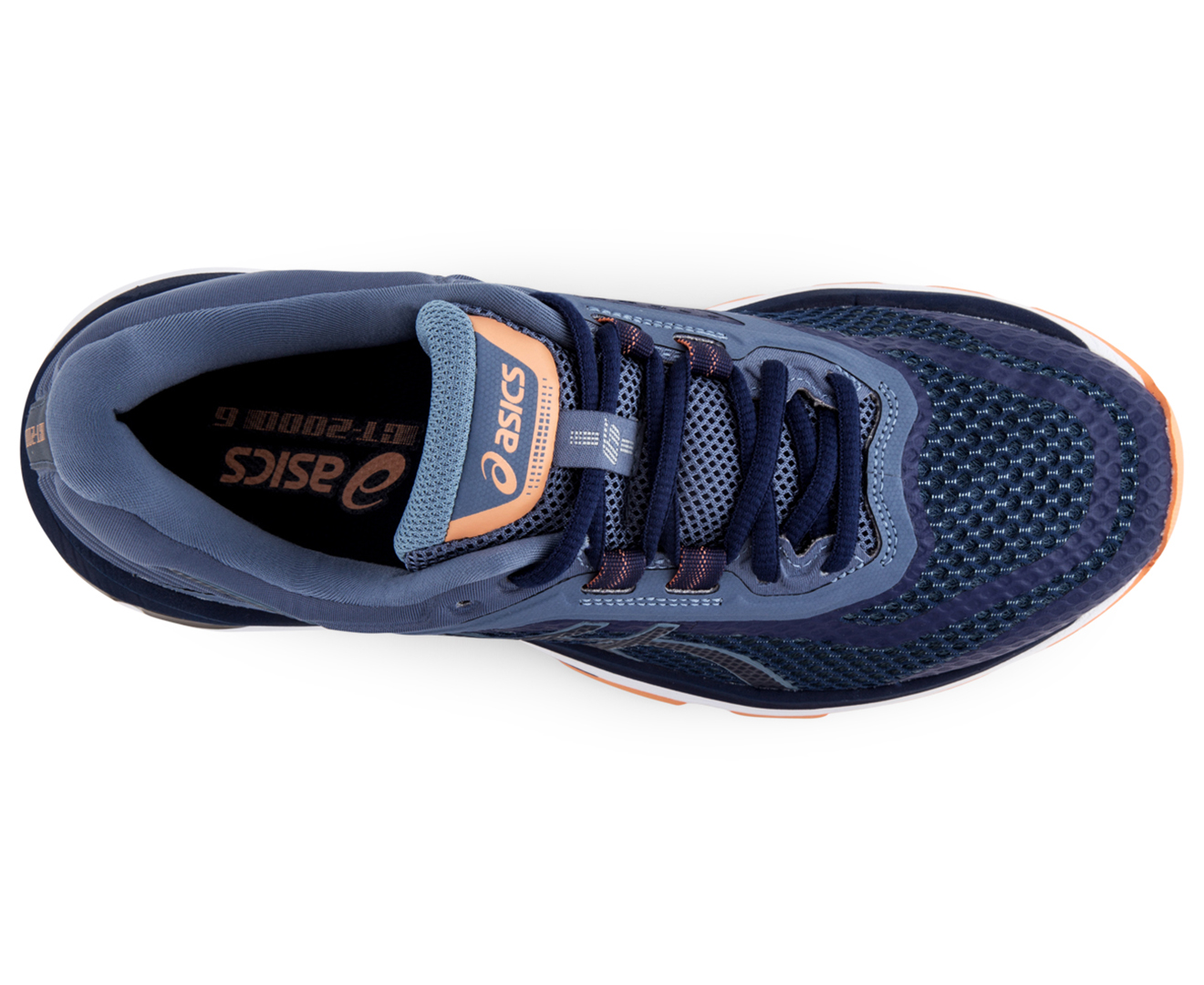 Asics Women S Gt 2000 6 Wide Fit D Shoe Indigo Blue