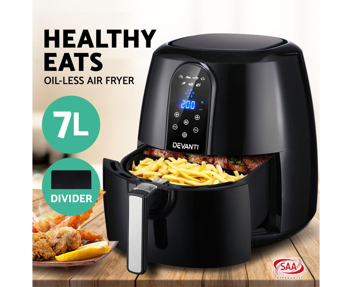 Devanti 7l Air Fryer Lcd Healthy Cooker Oil Free Kitchen Oven Airfryer 1800w Catch Com Au