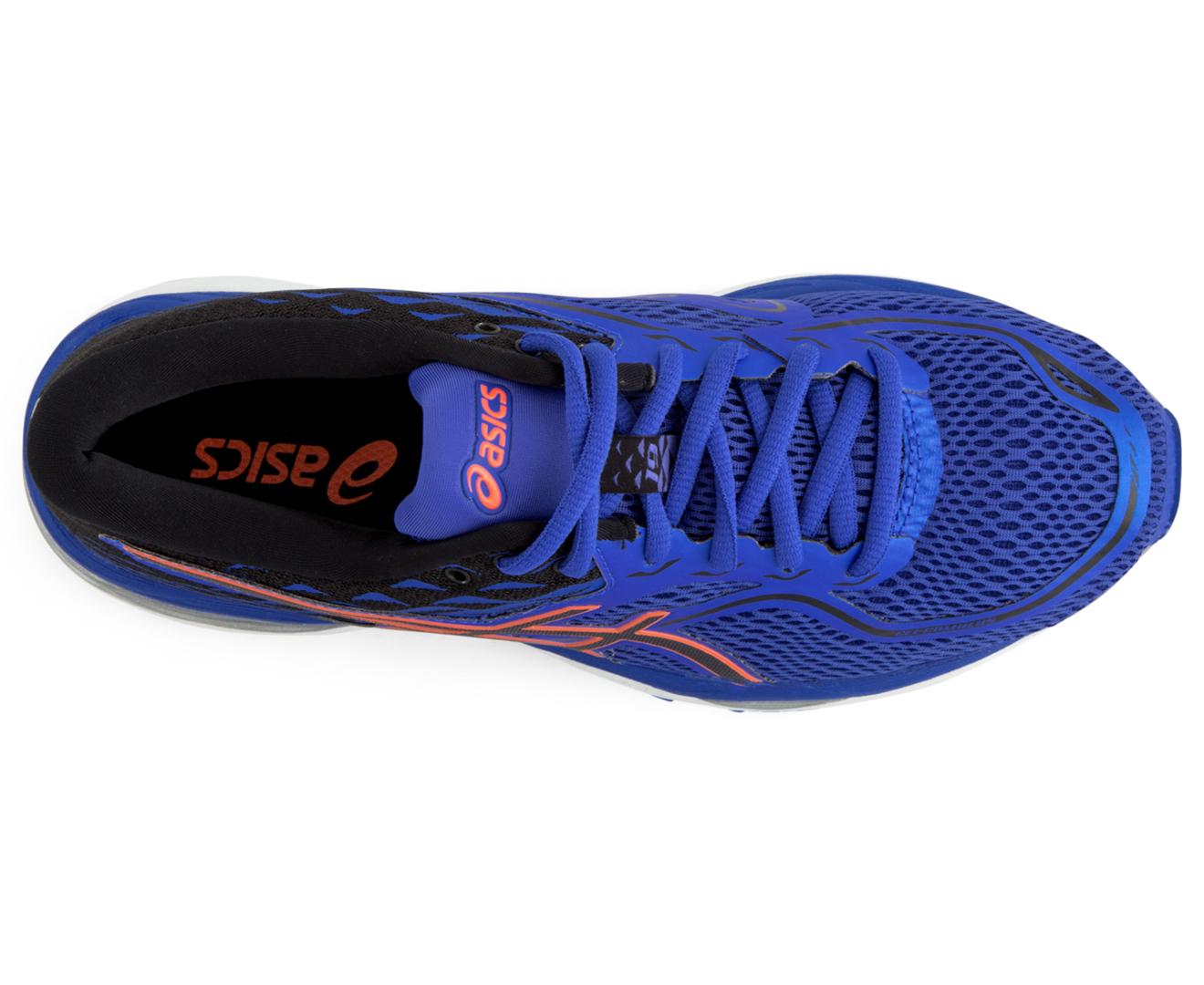 3ce41821 Asics Women's GEL-Cumulus 19 Wide Fit (D) Shoe - Blue Purple/Black/Flash  Coral