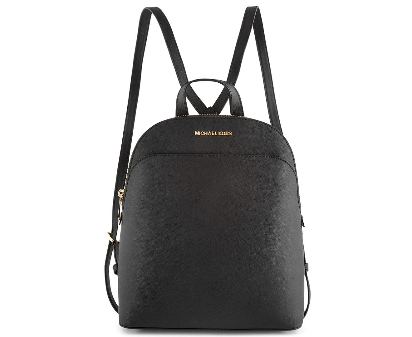 dde671cad5c7 Michael Kors Large Emmy Backpack - Black | Catch.com.au