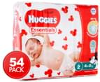 Huggies Essentials Infant Size 2 4-8kg Nappies 54pk 1