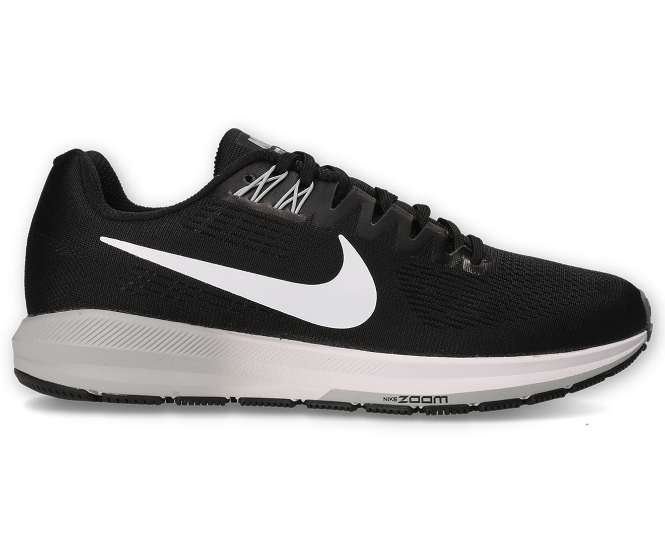 6cac7760d68d Nike Men s Air Zoom Structure 21 Shoe - Black White-Wolf Grey ...