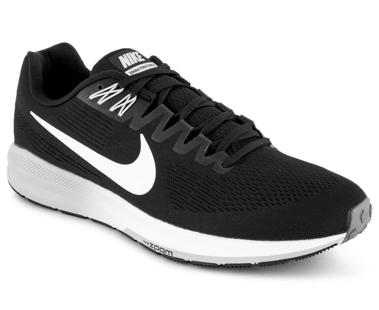 845a439613ae Nike Men s Air Zoom Structure 21 Shoe - Black White-Wolf Grey ...