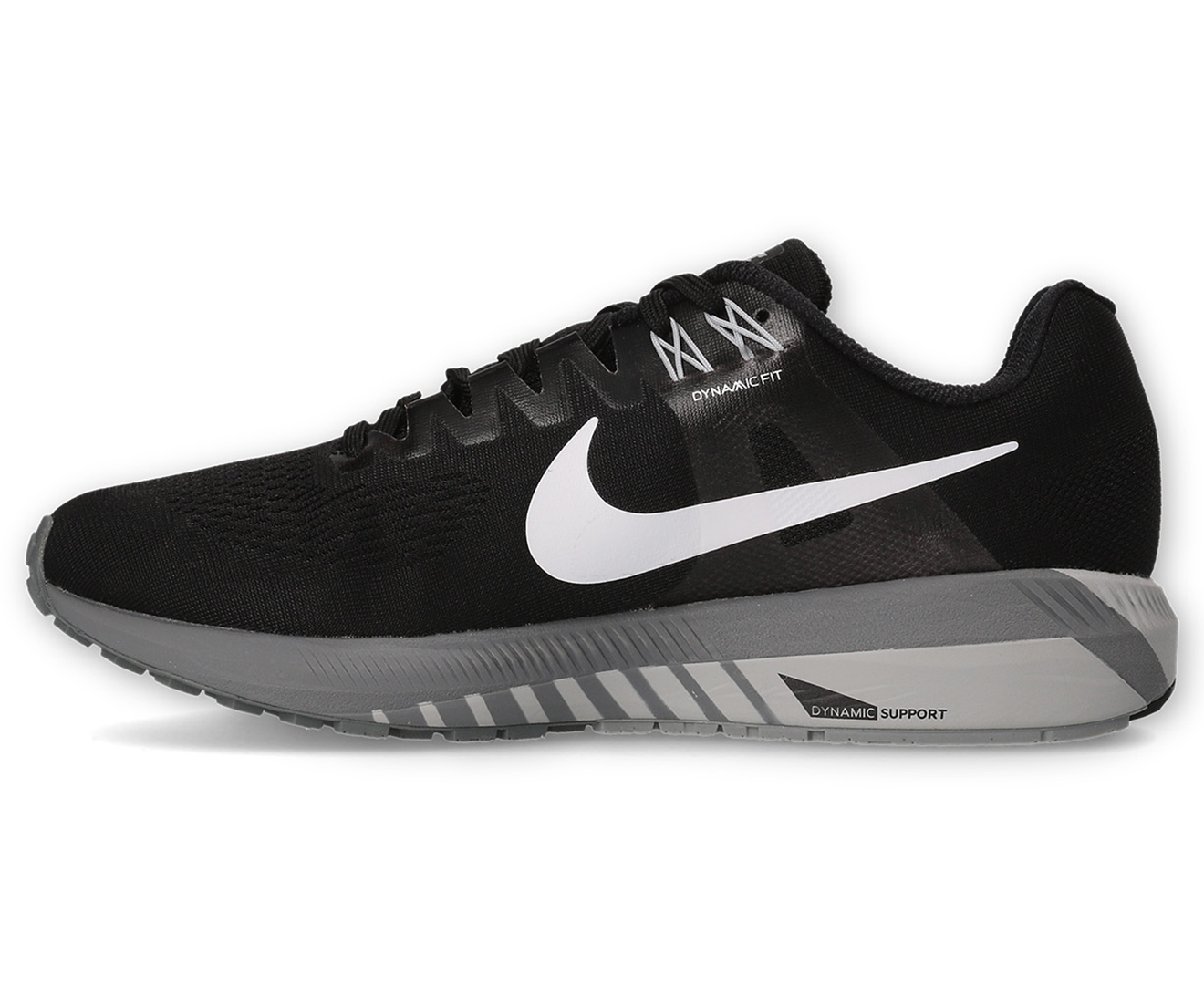 19d5804a832f1 Nike Men s Air Zoom Structure 21 Shoe - Black White-Wolf Grey ...